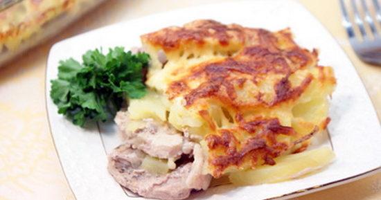 Свинина по-французски с картошкой