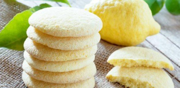 Лимонное постное печенье