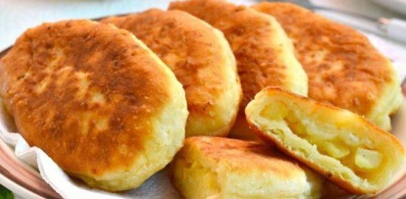 Пирожки с яблоками жареные