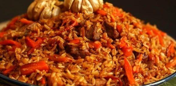 Плов из красного риса