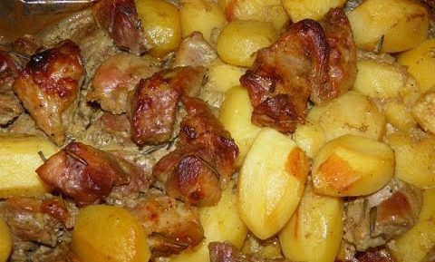Картошка в печке