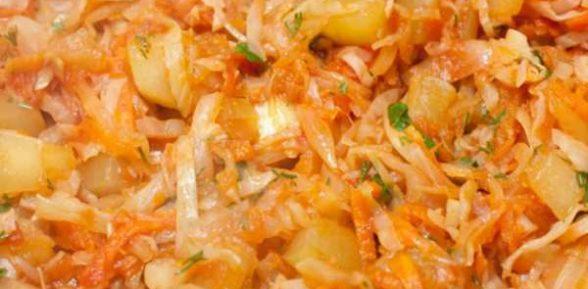 Рагу с капустой и картошкой