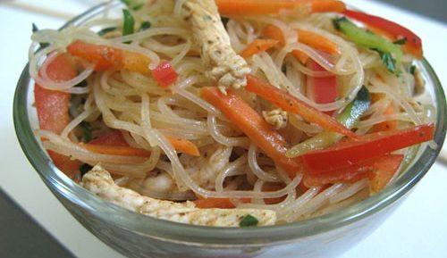 Салат из фунчозы по корейски