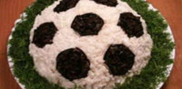 Салат футбольный мяч