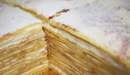 Заварной крем для блинного торта