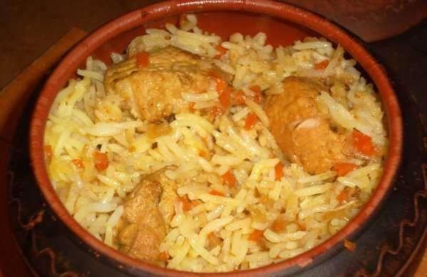 свинина с рисом