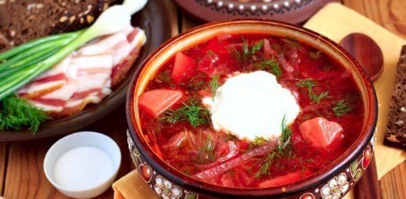 Гордость украинской национальной кухни – борщ