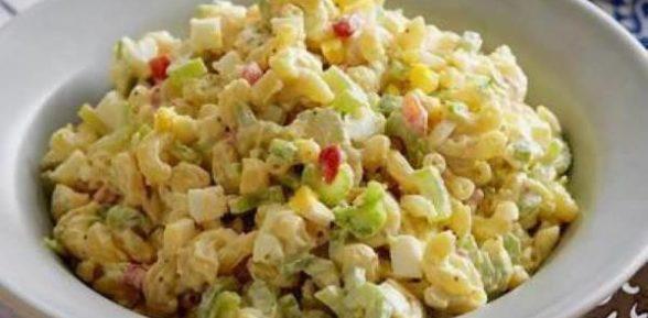 Салат из макарон быстрого приготовления