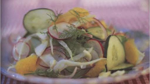Салат с апельсинами «Амалфи»