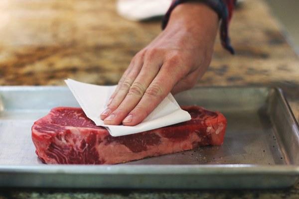 просушить мясо