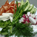 фото овощная тарелка