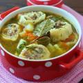 суп с ленивыми пельменями фото