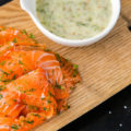 лосось с творожным кремом