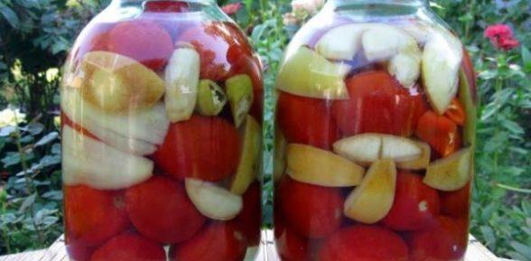 «Сладкая парочка» — маринование помидор с яблоками