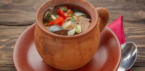 Чанахи по-грузински в горшочке