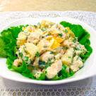 фото салата из курицы с ананасом яйцом и сыром