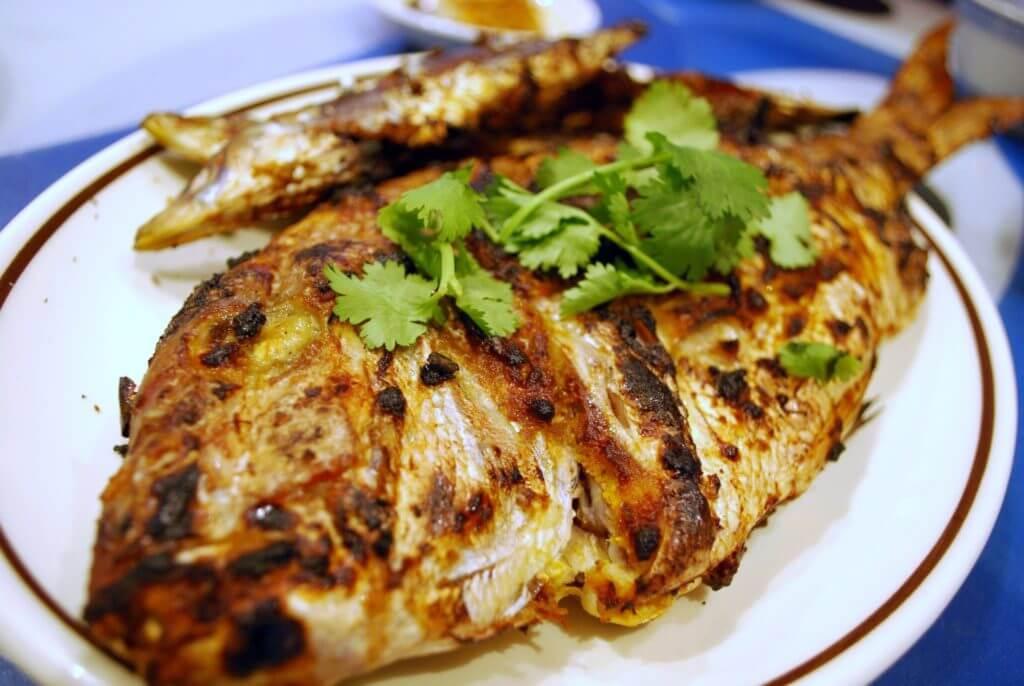маринад с зернистой горчицей для рыбы на углях