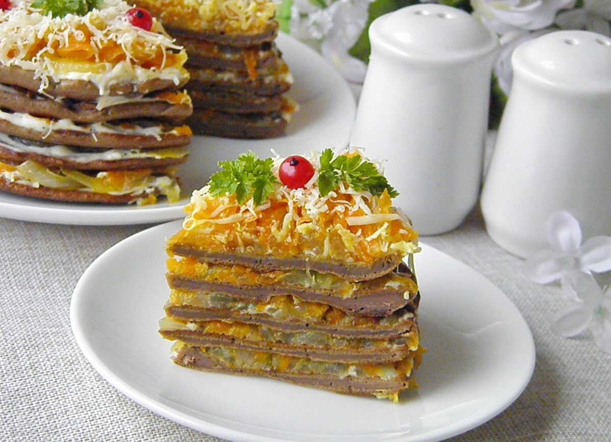 Торт из печенки рецепт с фото
