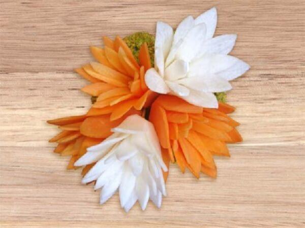 Как вырезать лилия из моркови