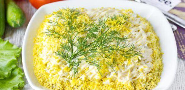 Яндекс рецепт салат мимоза
