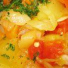 Овощное рагу из патиссонов