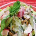 Салат из редиски с грибами