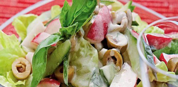 Салат с редиской — простые и вкусные рецепты