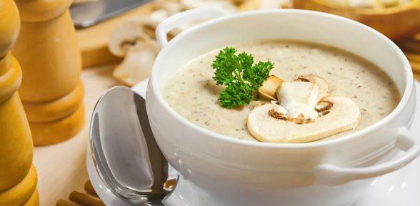 Нежный, вкусный и ароматный суп-пюре из шампиньонов