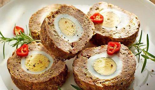 Нежный и потрясающе вкусный мясной рулет с яйцом