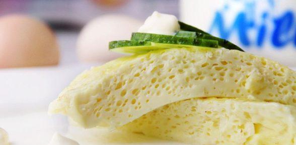 Быстрый завтрак: омлет в микроволновке
