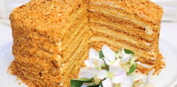 Классический торт медовик в домашних условиях