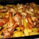 куриное мясо с картофелем в духовке