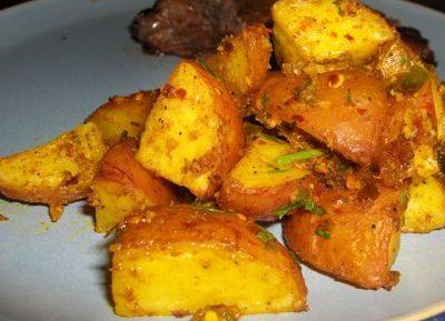 Сушеный картофель с горчицей