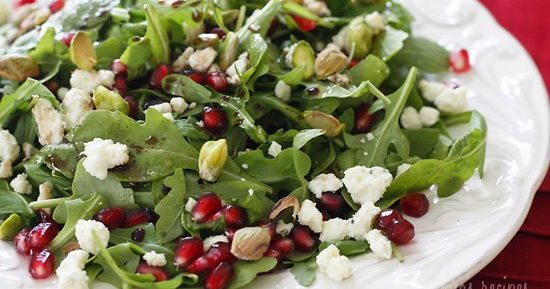 Фисташковый салат с зернами граната
