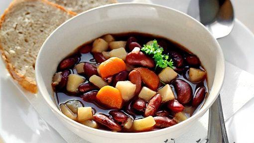 Рецепт фасолевого супа. Суп из красной фасоли.
