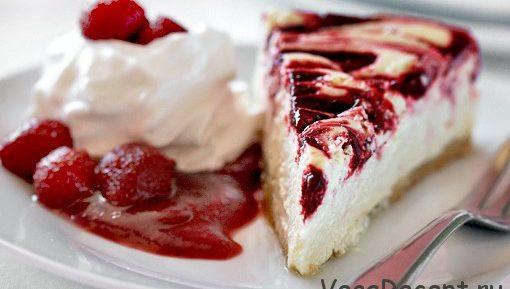 Творожный торт с клубникой – Рецепт