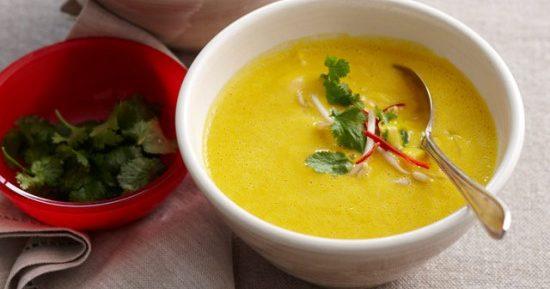 Тайский тыквенный суп с чесноком
