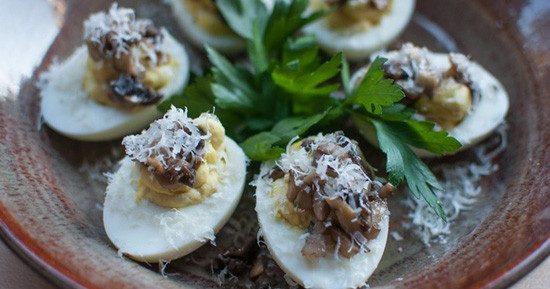 Яйца фаршированные грибами