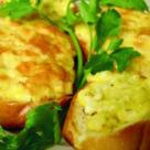 Фото Бутерброды с сыром и курицей в аэрогриле рецепт