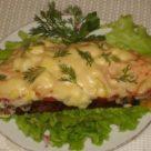 Горячие бутерброды с рыбой и сыром