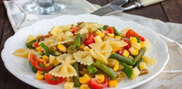 Макароны с овощами по-вегански
