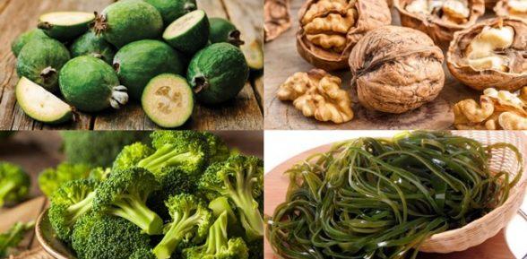В каких растительных продуктах есть йод