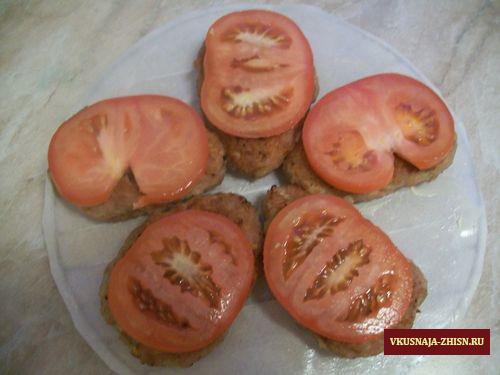 укладываем помидорки