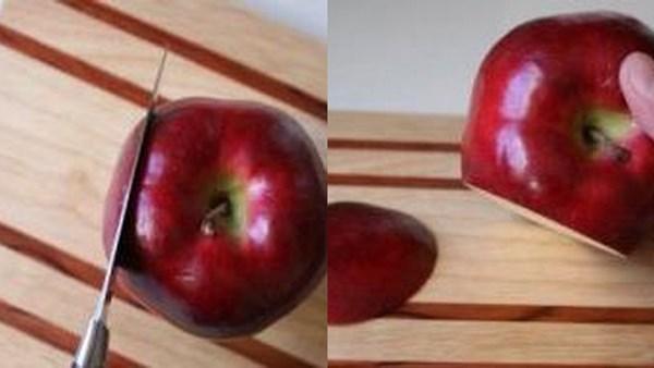 отрезать часть яблока