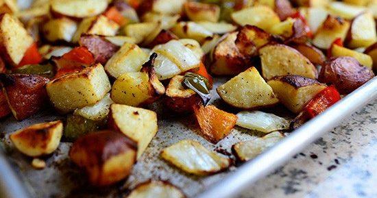 Молодая картошка запеченная в духовке