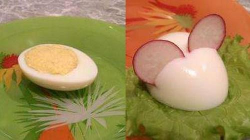 начинить яйца