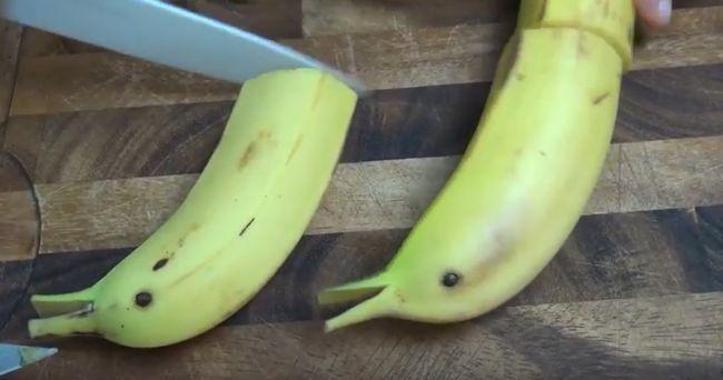 отрезать часть банана
