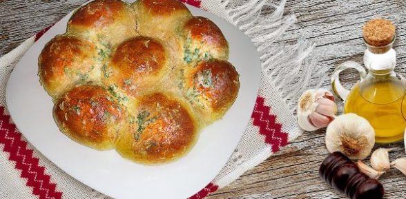 Пампушки с чесноком (фото рецепт)