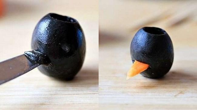 вставить клювики из моркови
