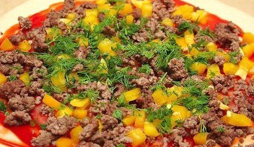 Пицца с фаршем в аэрогриле